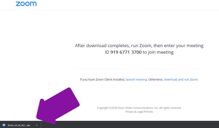 Stažení Zoom aplikace