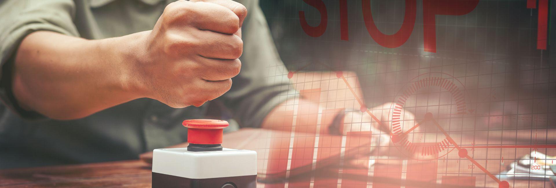 tlačítko, kterým můžete zastavit veškerý tok peněz