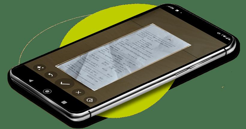 Vyfocená účtenka v mobilní aplikaci Fidoo