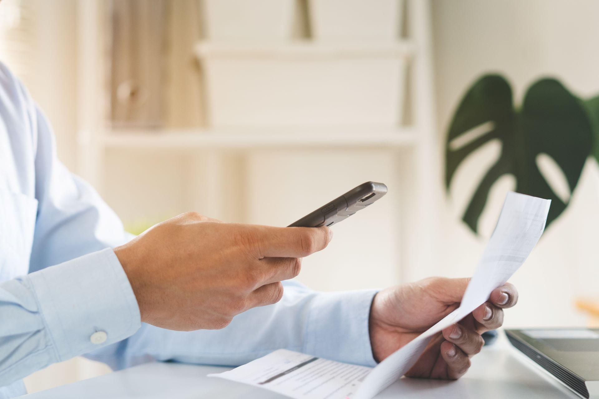 Focení účtenky na mobil