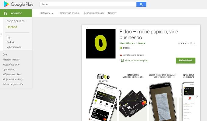 Stažení mobilní aplikace Fidoo
