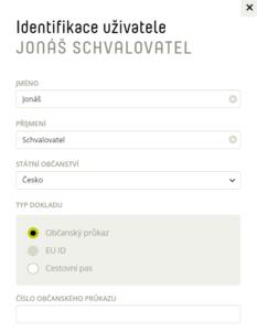 Identifikace uživatele