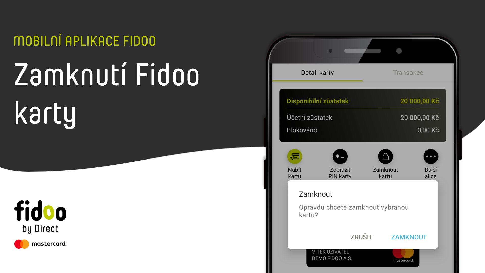 Zamčení Fidoo karty